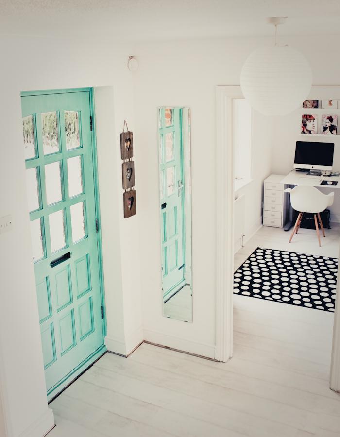 White floor hallway