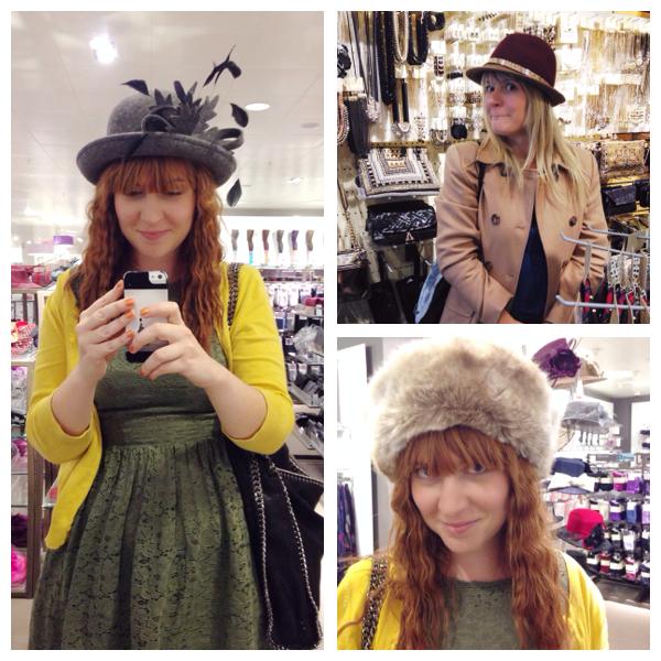 Hat shopping high street