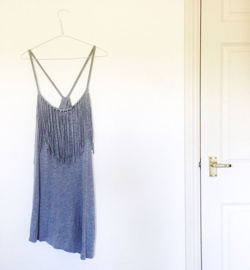 Tassel dress grey