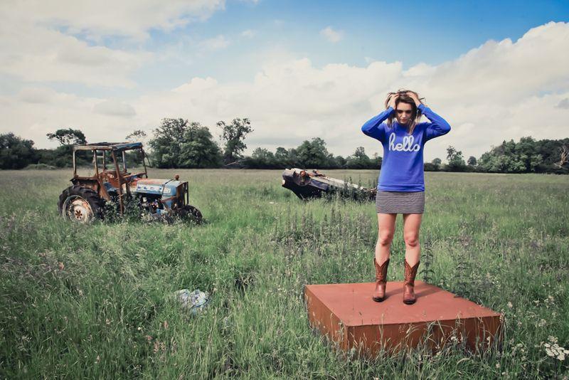 Hello apparel UK blue jumper