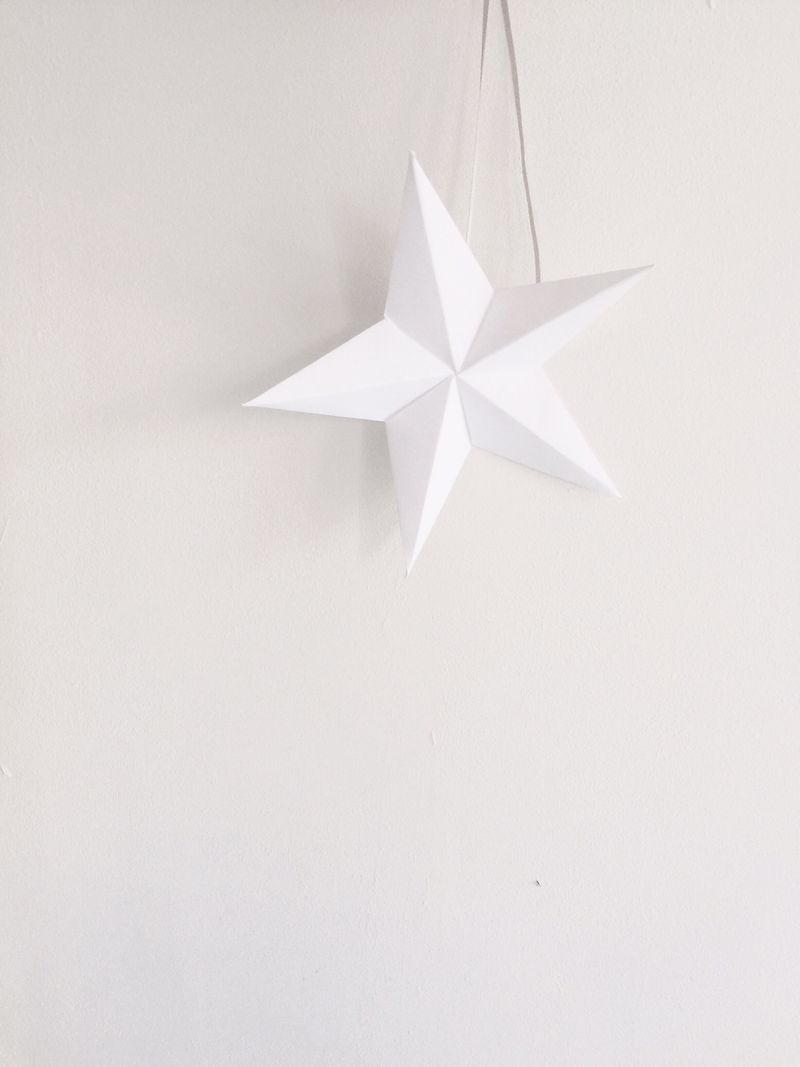 White christmas tree topper