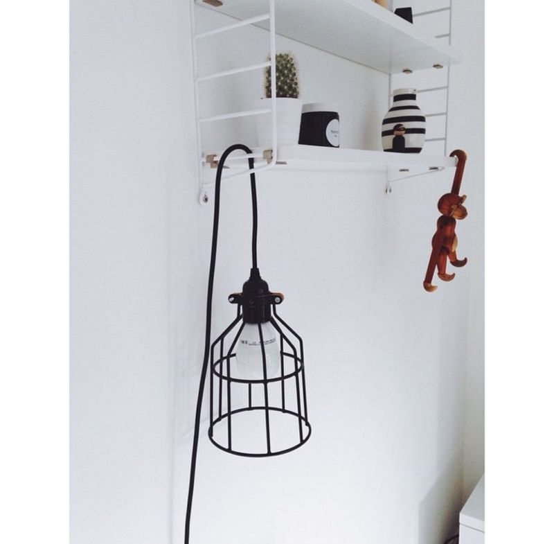 Electrical shop string shelf