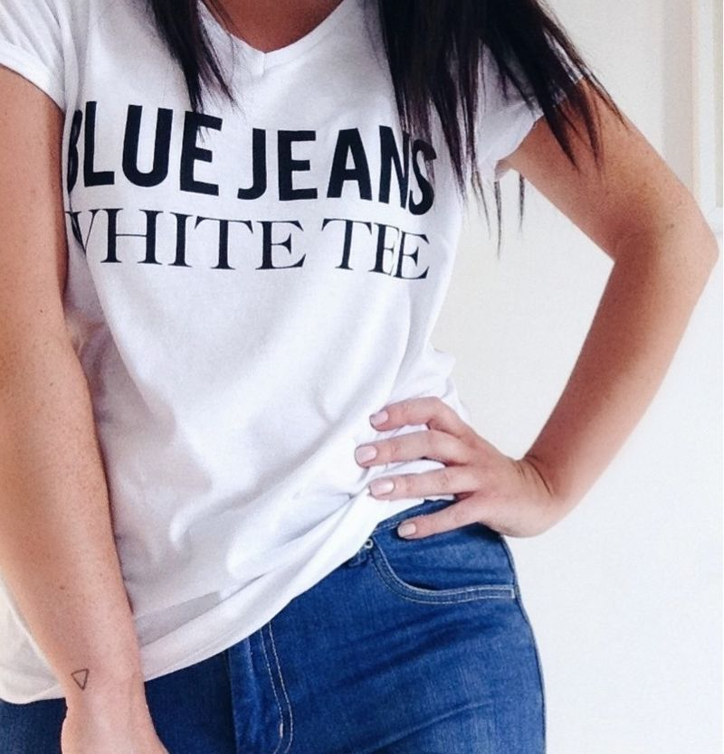 Blue jeans white tee