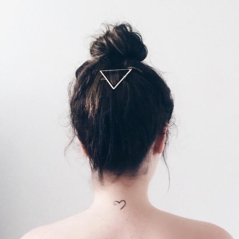 Triangle hair brooch