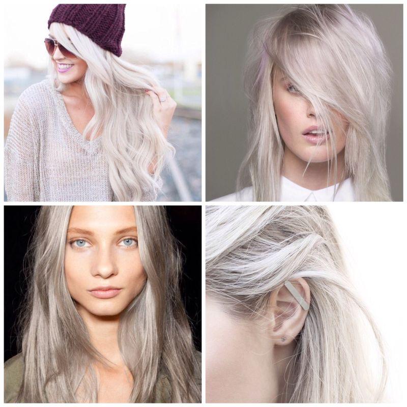 Pale grey hair pinterest